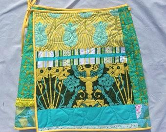 Green/Salmon Reversible Wrap-Around Skirt