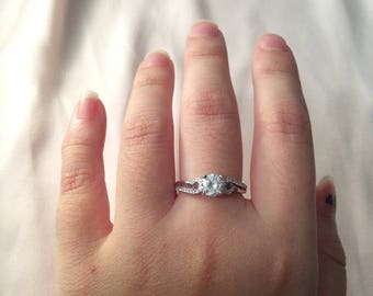 Promise Ring ~ Silver Promise Ring ~ Women's Promise Ring ~ Gifts for Women ~ Gifts for Her ~ Promise Ring for Her ~ free gift box