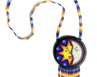 Sun and Moon Medicine Pouch Necklace