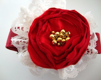 Holiday Sensation Red Glam Dog Collar Large