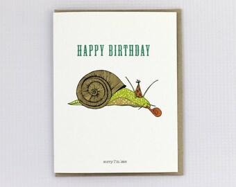Happy Birthday Snail