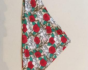 Handmade Dog tie up style bandana, small