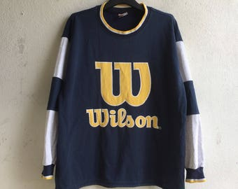 Vintage wilson sweatshirt / sweater / jumper / there was a little hole in the shirt / size large