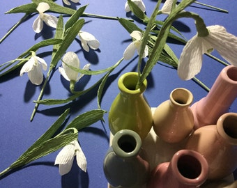 Crepe Paper Snowdrop Galanthus Flower