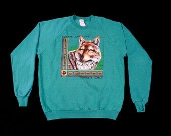 Vintage Graphic Wolf Sweater sz XL