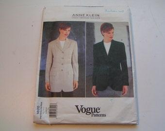 Vogue Pattern 1820 Anne Klein Miss Petite Jacket