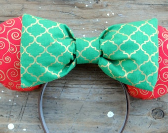 Christmas Swirl Mouse Ears
