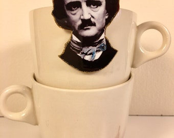 Edgar Allan Poe Brooch Never more