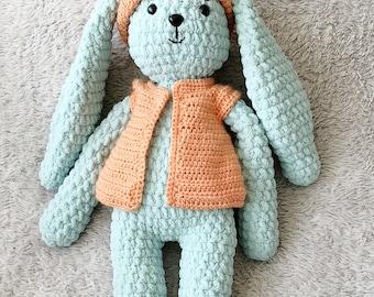 Stuffed Crochet Bunny. Cute Crochet Bunny. Crochet Baby Toy