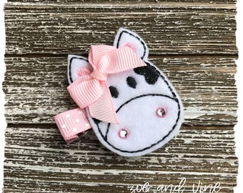 Felt Clippie - Girly Cow - READY TO SHIP