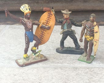 Vintage Cowboy and Indians Toys