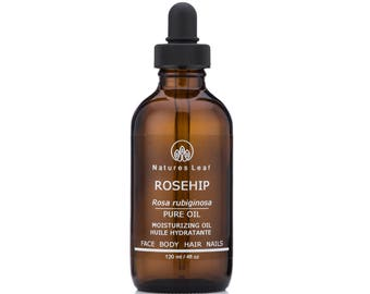 Rosehip Oil, Organic, Unrefined, Cold Pressed, 100% Pure, Anti-Aging Facial Moisturizer by Natures Leaf
