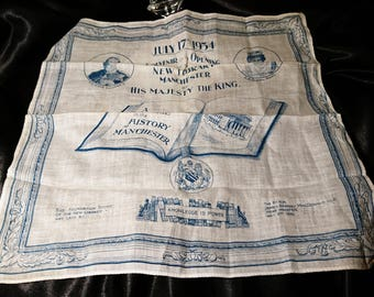 Vintage 1930's handkerchief, royal memorabilia, collectable