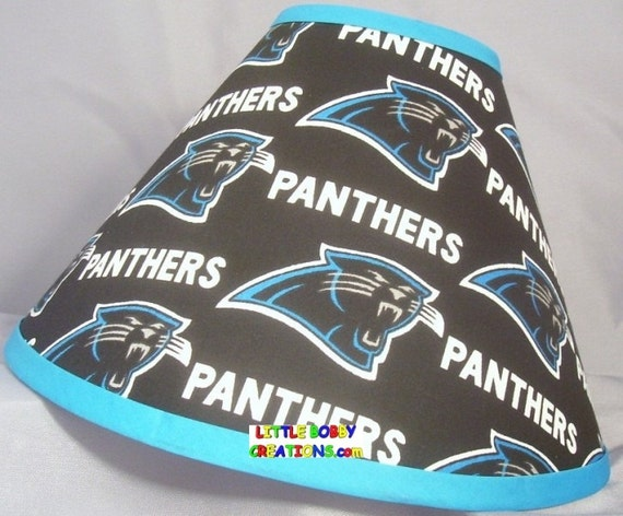 Nfl carolina panthers fabric lamp shade 10 sizes to choose mozeypictures Image collections