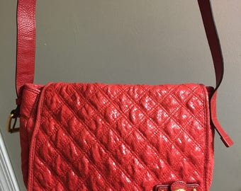 Marc Jacob red Crossbody bag like new!!