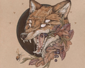 Sunt Lacrimae Rerum - 11 x 14 fox fine art print