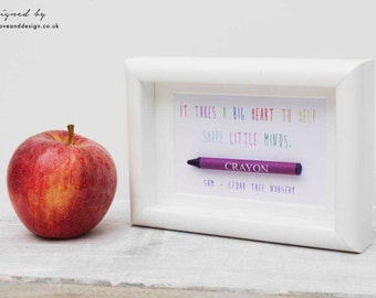 Personalised Crayon Keepsake Frame