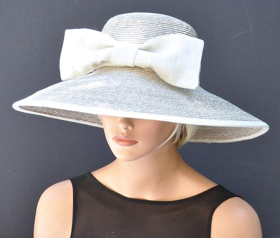 Wedding Hat, Derby Hat, Linen Hat, Special Occasion Hat, Formal Hat, Sand Taupe Hat, Sun Hat, Garden Party Hat