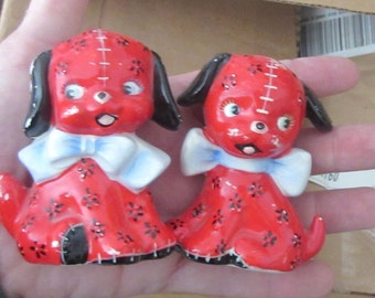 china dog salt and pepper shakers made in japan