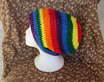 Rainbow Slouchie Beanie