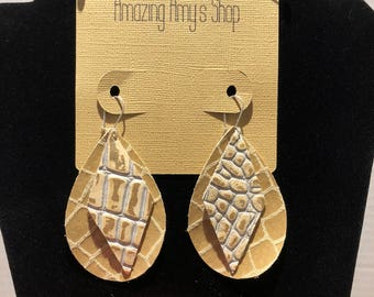 Genuine Leather Earrings*** free shipping