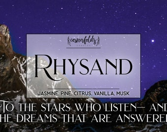 Rhysand | ACOTAR 4oz. or 8oz. Inspired Scented Soy Candle