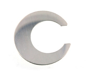 1 inch Crescent Moon Sterling Silver Blanks 22 gauge- For Hand Stamped Jewelry