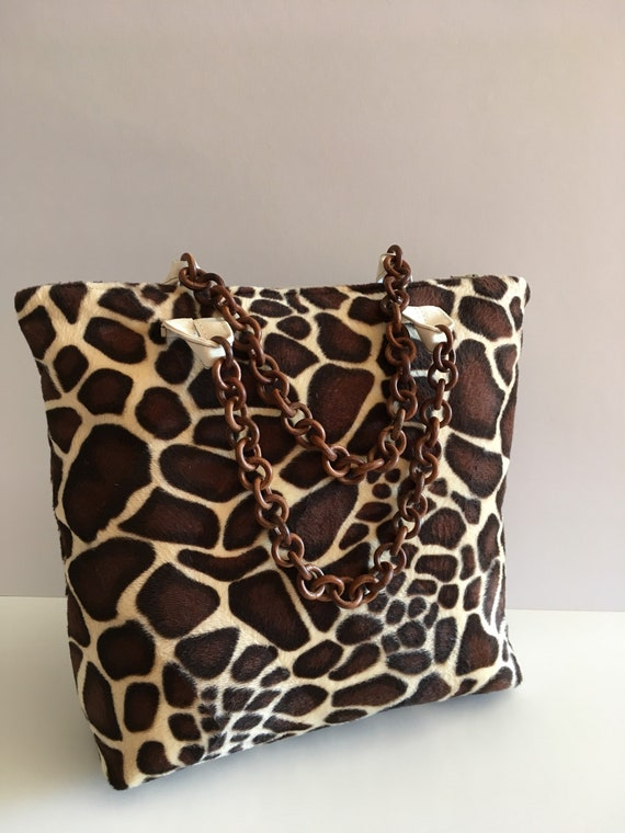 S - 595 Giraffe pattern fashion handbag