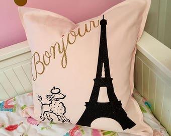 Paris Decor | Dorm Room Decor | Eiffel Tower | Bonjour | Home Decor | Girls Bedroom | Glam Decor | Paris Theme | Bedroo | French Decor