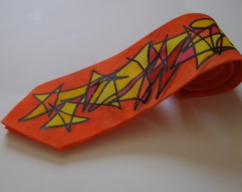 Scribble Necktie - Orange