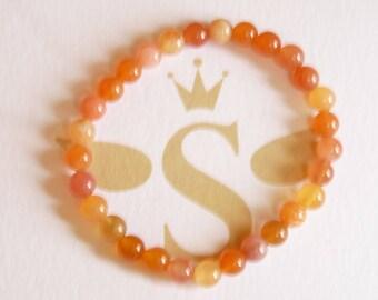 Light pumpkin, Carnelian bracelet