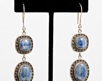 Kyanite 213 - Earrings - Sterling Silver & Kyanite