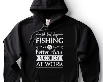 Fishing hoodie fishing sweater fisherman outdoorsman gift for husband hooded sweatshirt for fisherman men I LOVE it when MY Wife® Brand