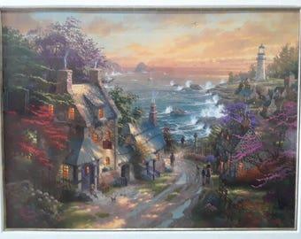 Seaside Lighthouse Original Art Reproduction
