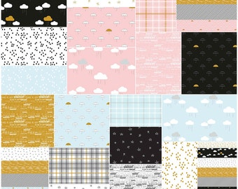 """SALE Fabric Riley Blake When Skies Are Grey Stacker 10"""" Precut Fabric Quilting Cotton Layer Cake 10-5600-42"""