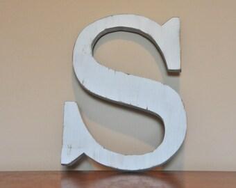 "Custom Wood Letter Monogram Initial Home Decor Nursery 10"""