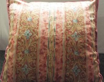 Extra Large Giant Cushion Rose, Gold And Aqua