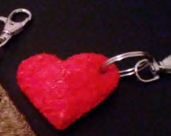 3d Heart Keychain
