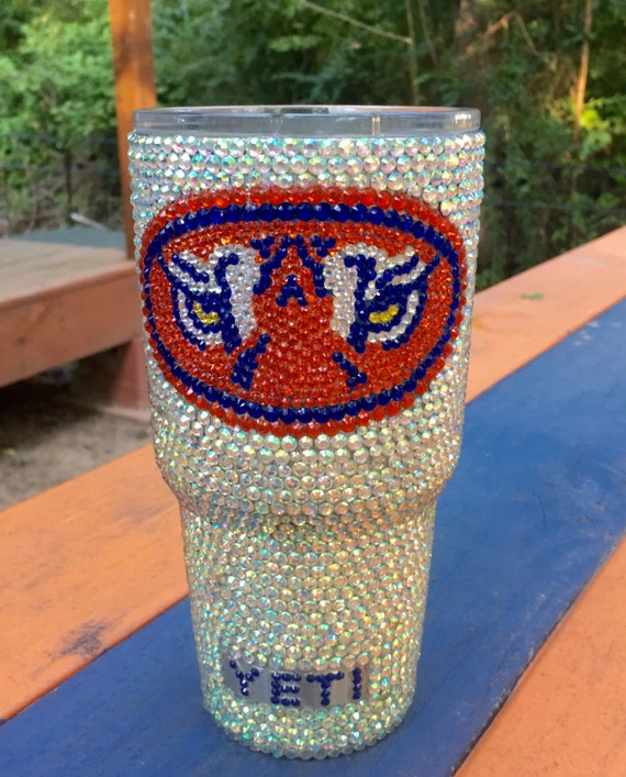 Rhinestone 30 oz Yeti Rambler with Collegiate Logo