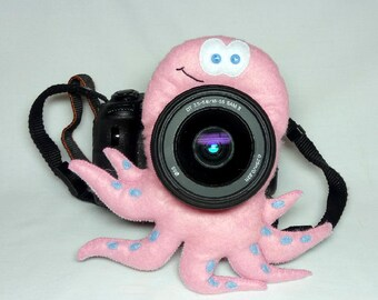 Camera buddy Photography accessory Camera lens buddy Photographer helper Camera accessory Photo helper Camera gift Felt octopus Felt toy