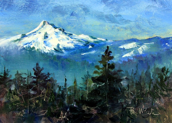 Mt. Hood 12518 - oil painting by Bonnie White