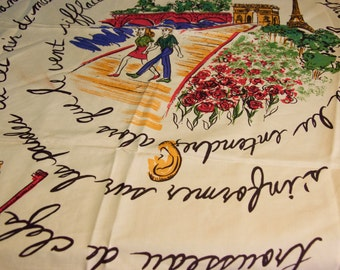 Vintage French Themed Scarf