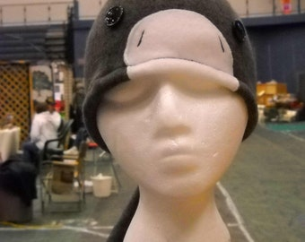 DONKEY FLEECE HAT with a mane and long tail