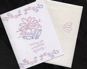 Wedding Bridal Card  Wishing you a Wonderful Beginning...
