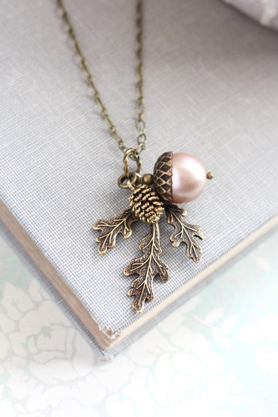 product gold lily close acorn on ball up jewellery necklace gardner chain pendant
