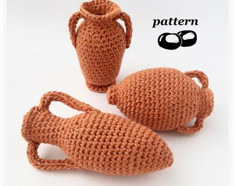 Greek Amphora Crochet Pattern / Crochet Vase Pattern / Ornament Miniature / Archeology Ancient Greece Rome