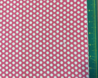 Bubblegum Pink Polka Dot 1/2 yard Cotton