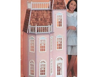Barbie Dollhouse Kit / Barbie's Victorian Town House Unfinished Dollhouse Kit in Playscale Size for Barbie