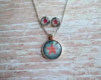 Winter Soldier Necklace or Earrings -- Steve Rogers -- Bucky Barnes -- Fandom Fashion -- Handmade Jewelry -- The Avengers - Civil War