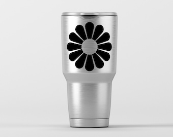 Flower (7) / Yeti Decal / Vinyl Decal / Yeti Tumbler Decal / Yeti Cup Decal / RTIC / ***Tumbler Available***